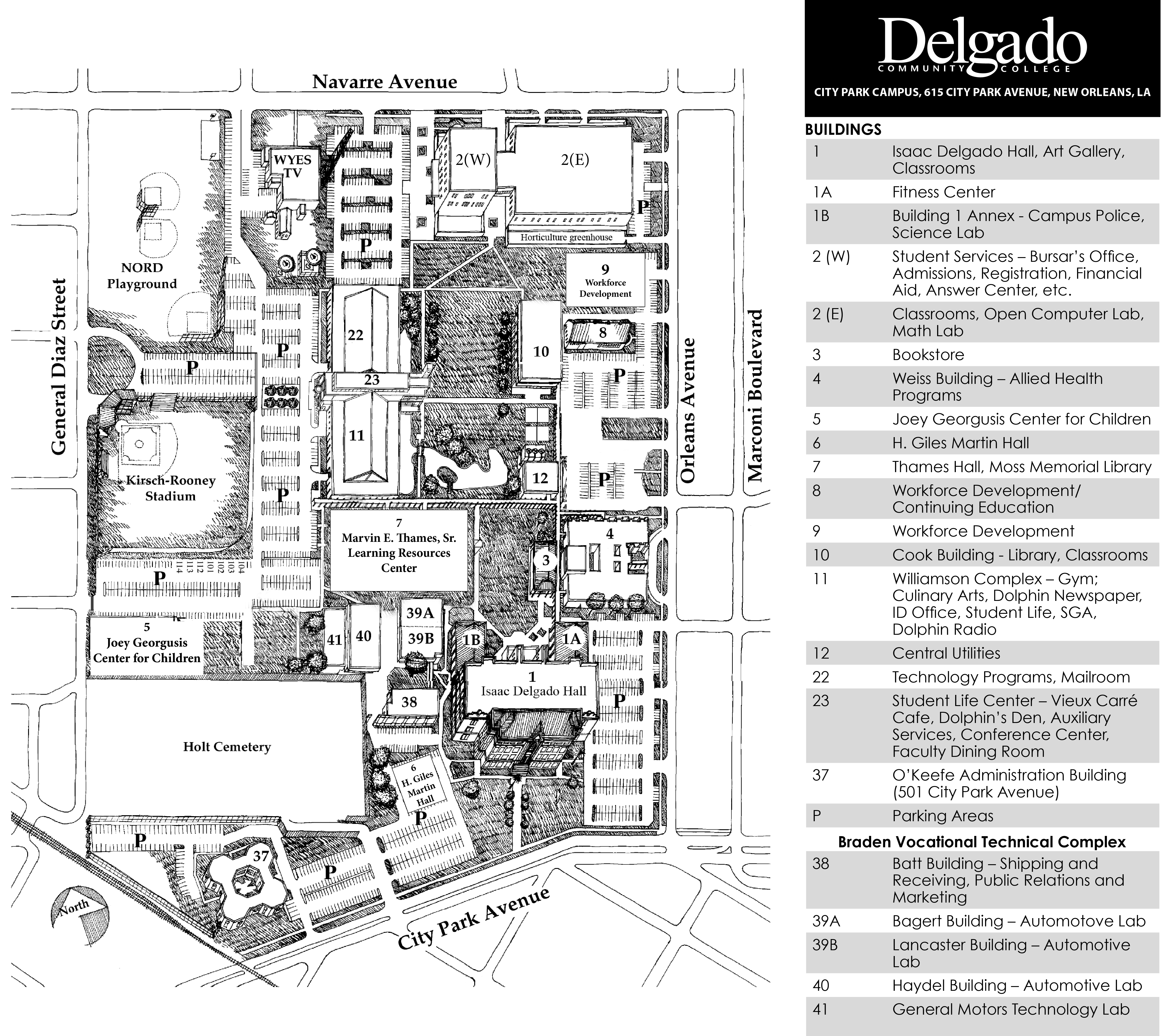 Delgado City Park Campus Map   Park Imghd.Co