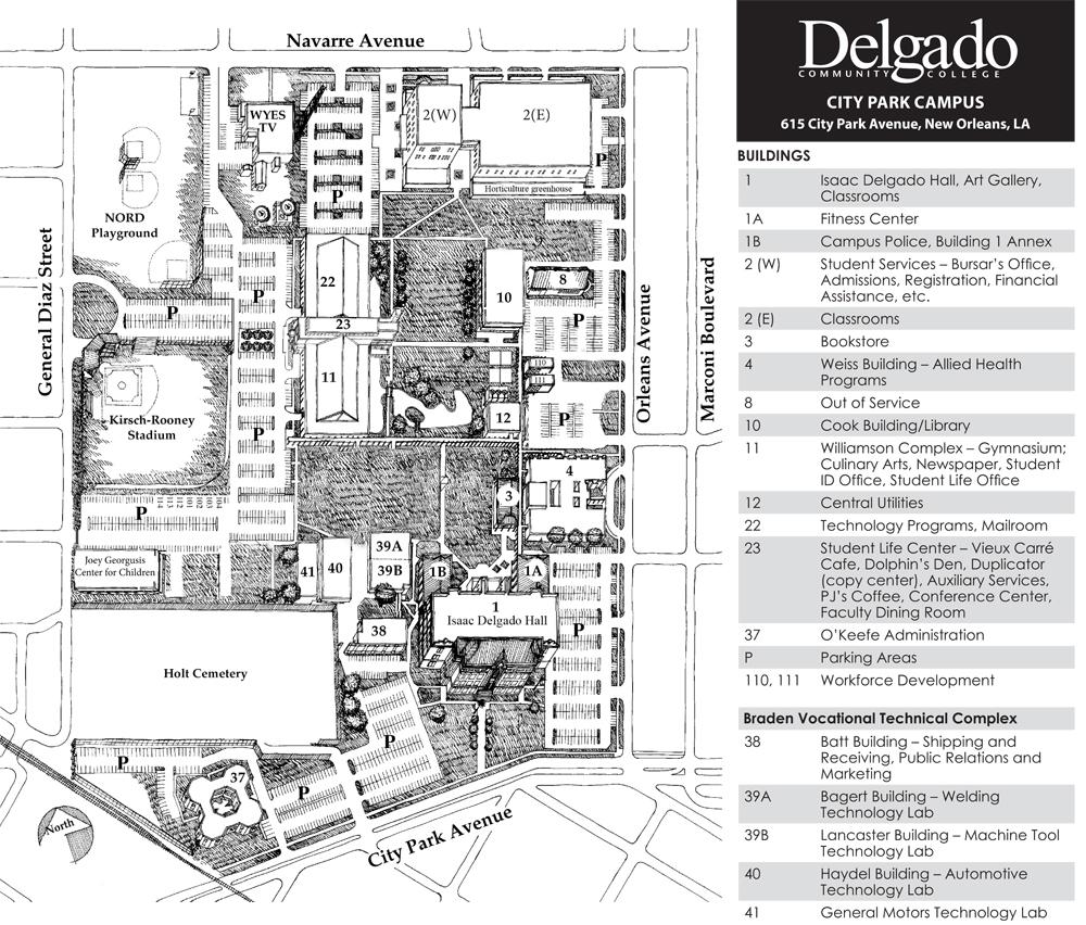 Delgado City Park Campus Map Delgado City Park Campus Map – Bestinthesw