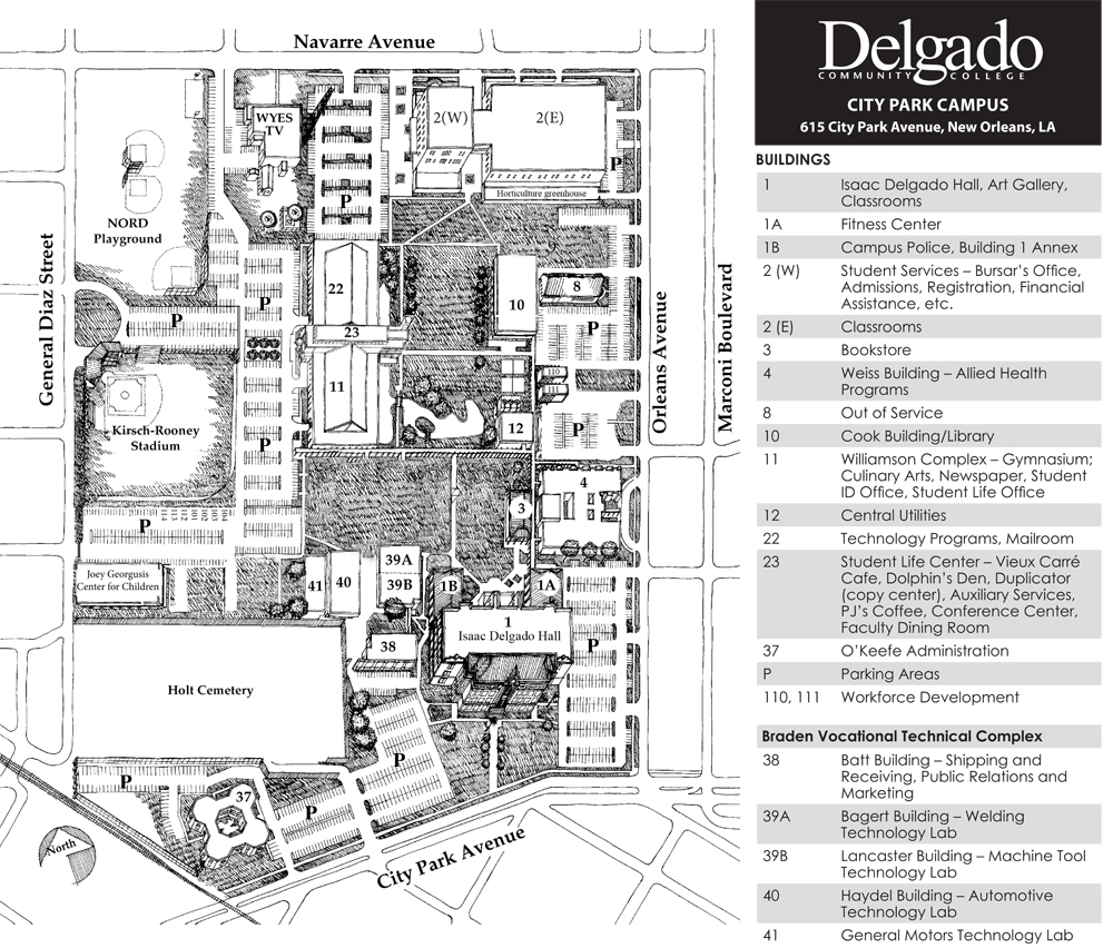 Maps   Delgado Community College   Acalog ACMS™